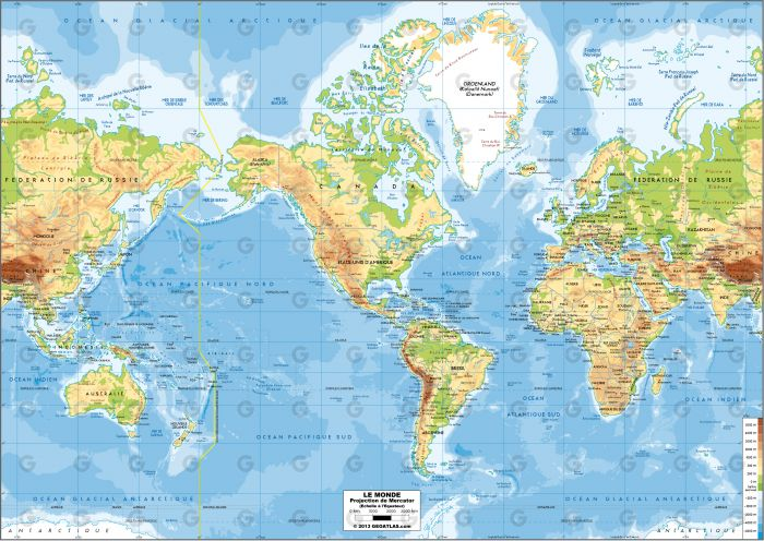 Monde - Mercator Amerique