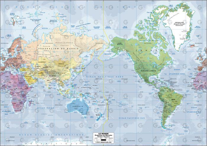 Monde - Mercator Oceanie