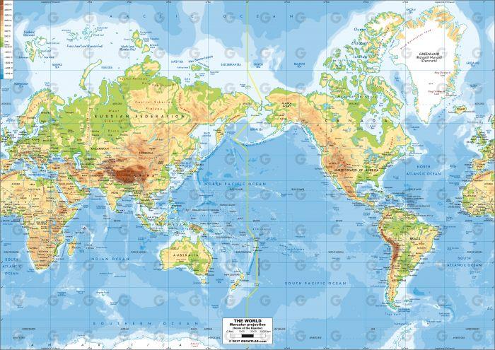 Monde - Mercator Oceania