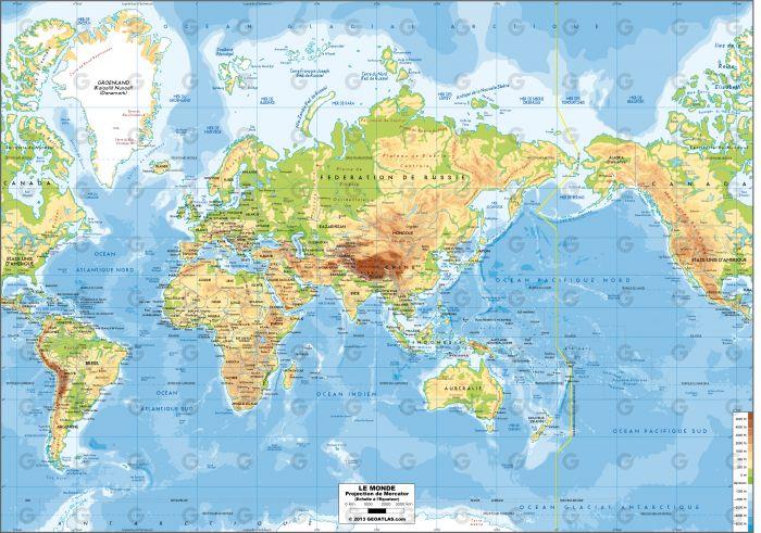 Monde - Mercator Asie
